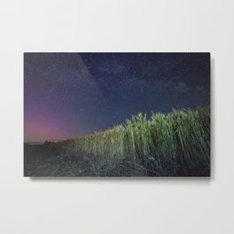 Wheat Field Planetarium Metal Print