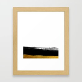 Black and Gold grunge stripes on clear white background - Stripe - Striped Framed Art Print