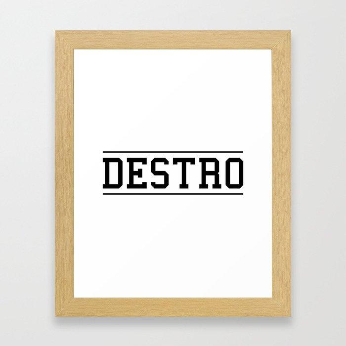 Destro University Framed Art Print