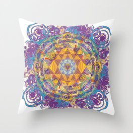 Actualize Sri yantra Throw Pillow
