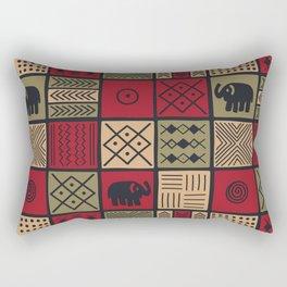 African Ethnic Textile 7 Rectangular Pillow