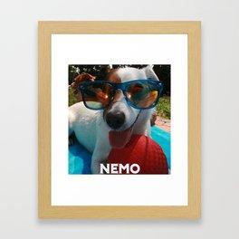 ITS A DOGGIE DOG WORLD Framed Art Print
