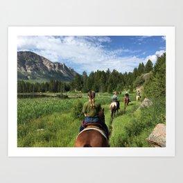 Wyoming Trail Ride Art Print