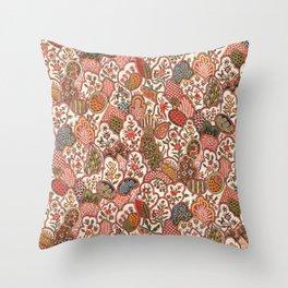 Oberkampf & Cie. Block Printed Textile Pattern, 1792 Throw Pillow