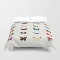butterflies Duvet Covers featuring Butterflies by Dorothy Leigh