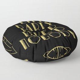 A little party - black glitz Floor Pillow