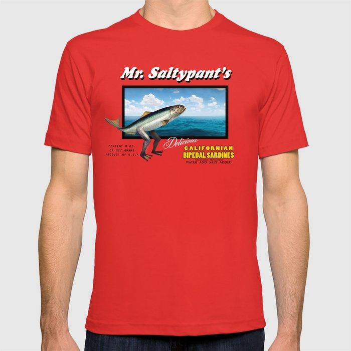 Mr. Saltypants Bipedal Sardines T-shirt