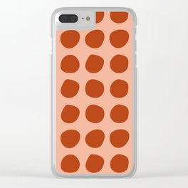 Irregular Polka Dots terracota Clear iPhone Case