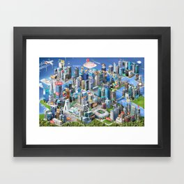 Bitcoin & the Blockchain Ecosystem Poster 2016 Framed Art Print