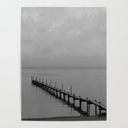 Misty Morning At The Lake Poster