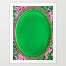 The Green Button Art Print