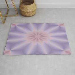 Pink and Lilac 3D Flower Three Rug