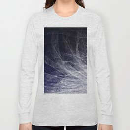 Cyan Texture Feathers Long Sleeve T-shirt
