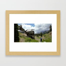 Exploring the Longfellow Mine of the Gold Rush - A Series, No. 3 of 9 Framed Art Print