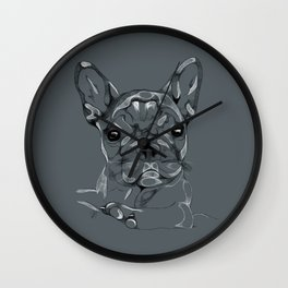 Sketchy Frenchie Wall Clock