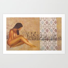 Girl in Field Art Print