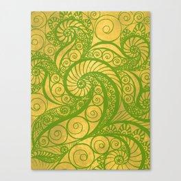 Green Shell Canvas Print