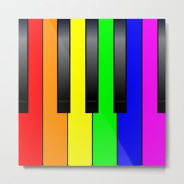 Trans Gay Piano Keys Metal Print