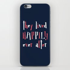 They Lived Happily Ever After iPhone & iPod Skin