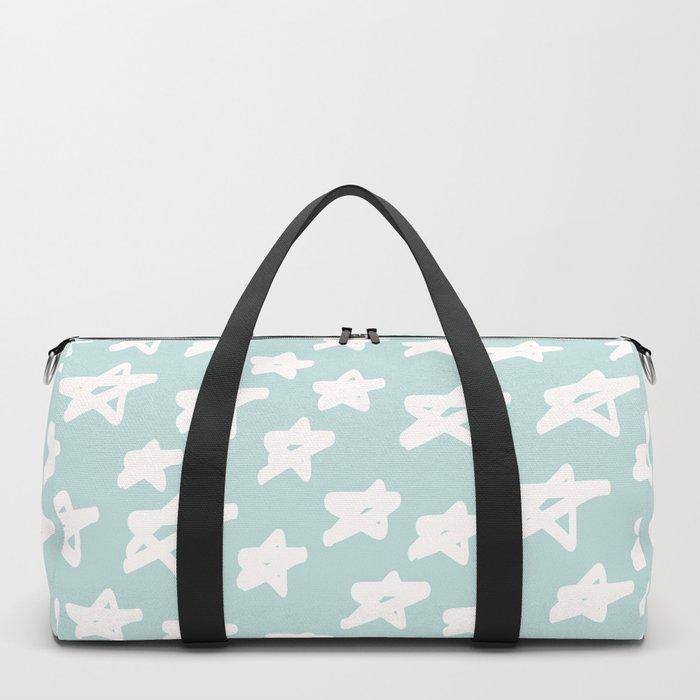 Stars on mint background Duffle Bag