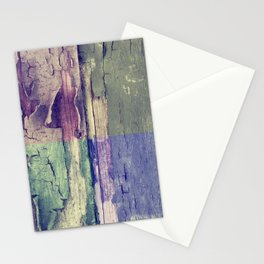 Abstract colored boards pattern Stationery Cards