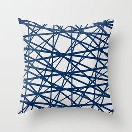 Criss Cross Lines Throw Pillow