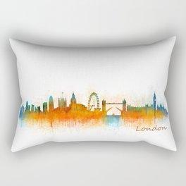 London City Skyline HQ v3 Rectangular Pillow
