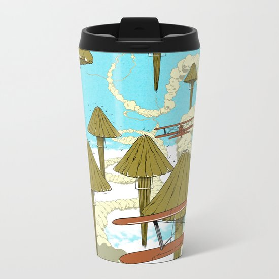 Jellyfish's War Metal Travel Mug