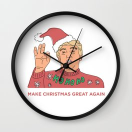 MAKE CHRISTMAS GREAT AGAIN Wall Clock