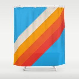 Gefjun - Classic Minimal Retro Summer Style Stripes Shower Curtain