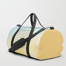 Isaiah 41:10 Bible Quote Duffle Bag