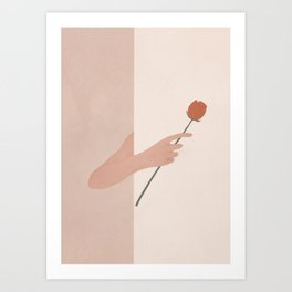 One Rose Flower Art Print