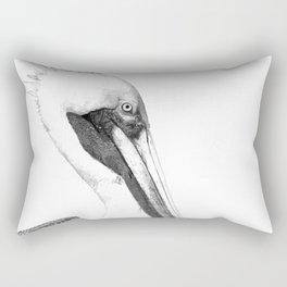 Black and White Pelican Rectangular Pillow