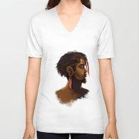 medicine V-neck T-shirts featuring Medicine Man by gravityjump