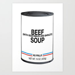 12 Beef With Vegetables and Barley Art Print