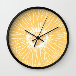 Minimalist Sunflower Wall Clock