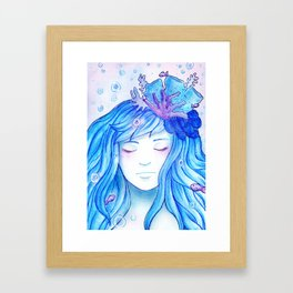 Colour theme - Blue Ocean Framed Art Print