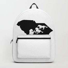South Carolina Marsh Tacky Horse Lover Black Backpack