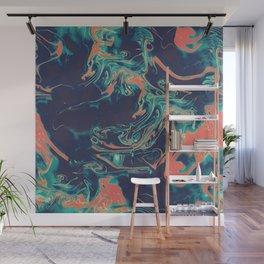Adrift - Abstract Suminagashi Marble Series - 05 Wall Mural