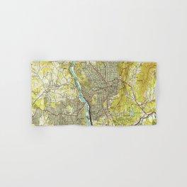 Vintage Map of Asheville North Carolina (1943) Hand & Bath Towel