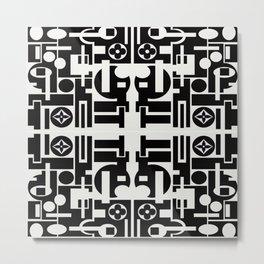Black and White Design Metal Print