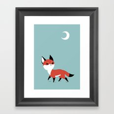 Moon Fox Framed Art Print