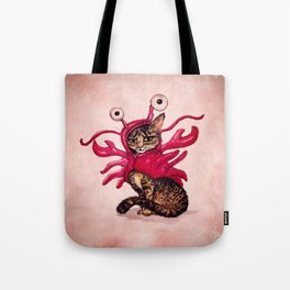 """Ma'ama Lisa"" by Amber Marine ~ Lobster Cat, Watercolor and Ink, (c) 2015 Tote Bag"