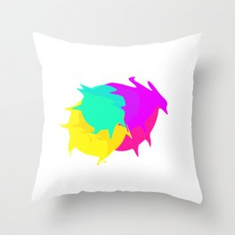 Colorful ink Throw Pillow