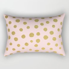 GOLDEN DOTS - PINK Rectangular Pillow