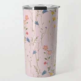 Dreamy Floral Pattern Travel Mug