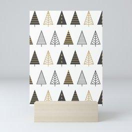 MODERN CHRISTMAS TREES Mini Art Print