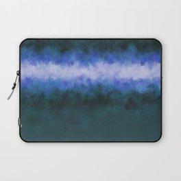 Slate Blue Steel Abstract Laptop Sleeve