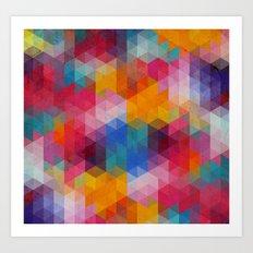 Geometric Color Dynamics Art Print