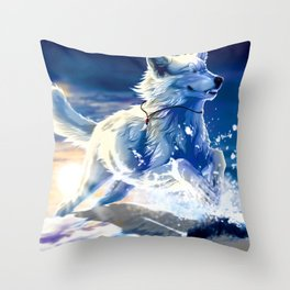 Chill Wolf Throw Pillow